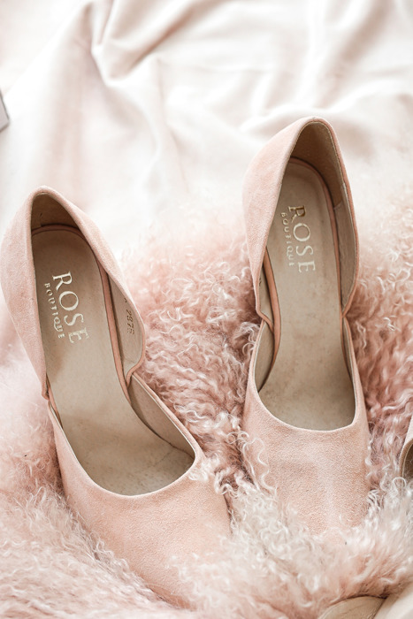 By Rose Suede Leather Heels - Pink