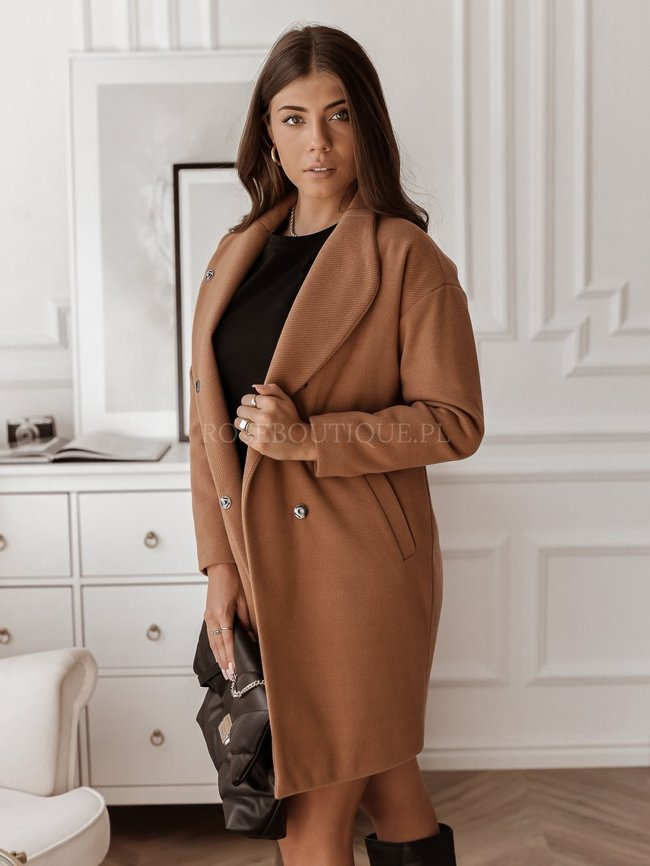 Caramel wool simple coat