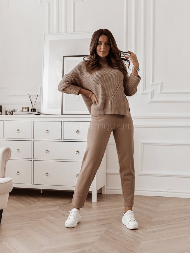 Coffee set of sweater and tracksuit