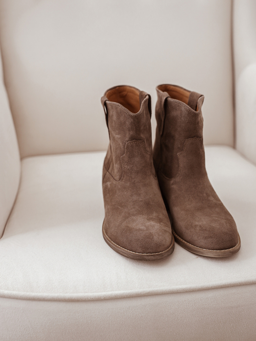 Leather Boots in brown beige