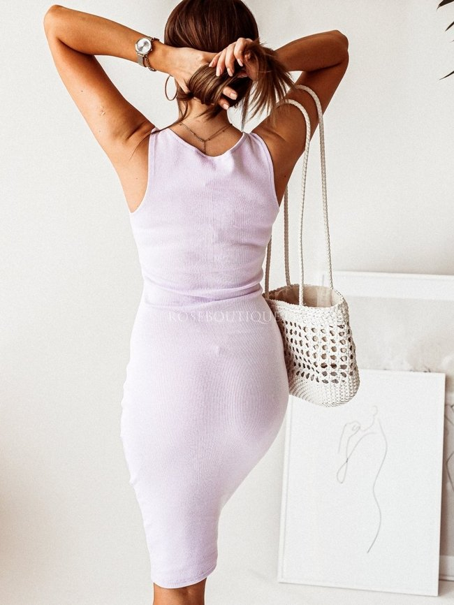 Lilac dress with straps