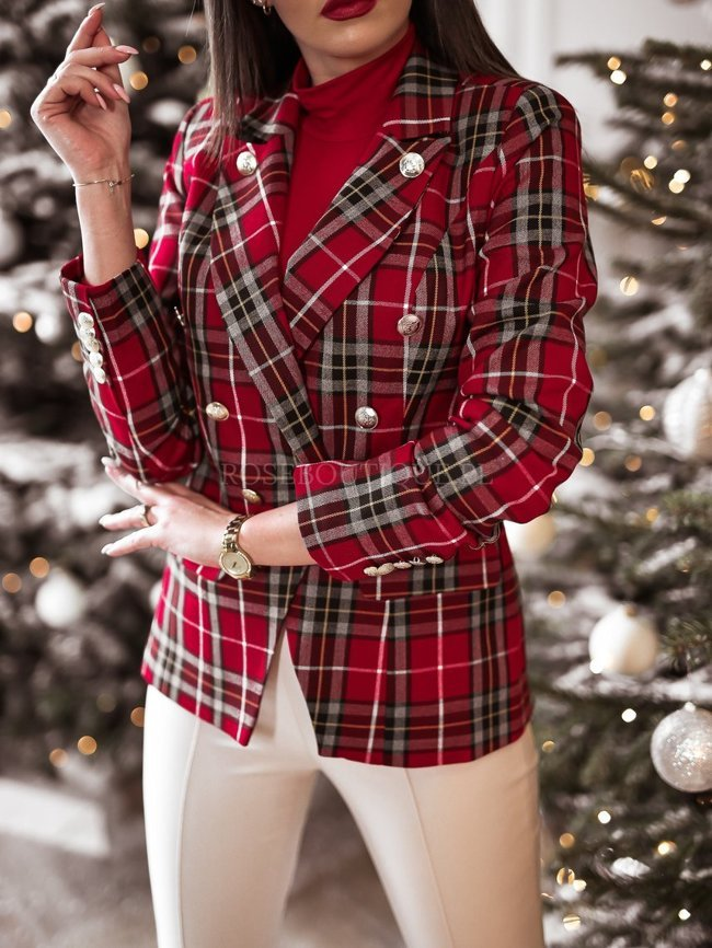 Red checked jacket