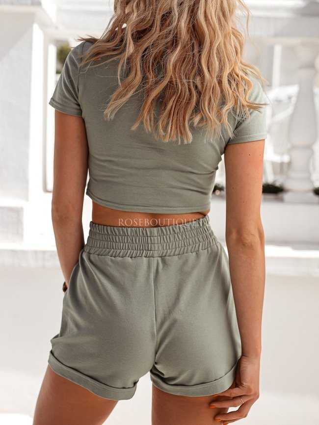Top and shorts set - Khaki