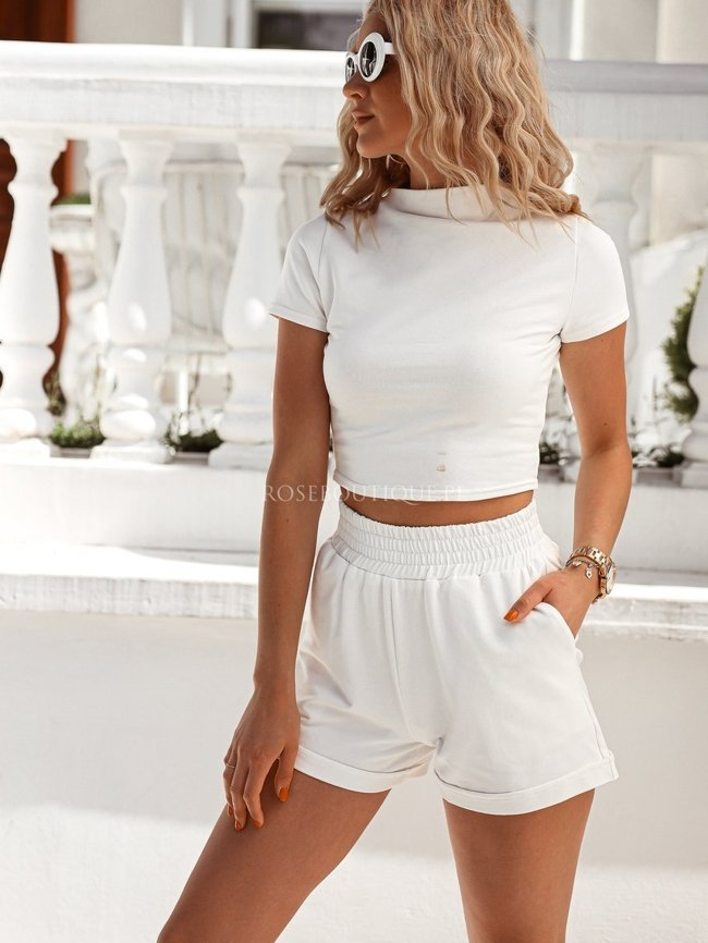 White top and shorts set